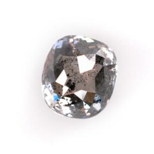 Rose Cut Salt and Pepper Oval Diamond