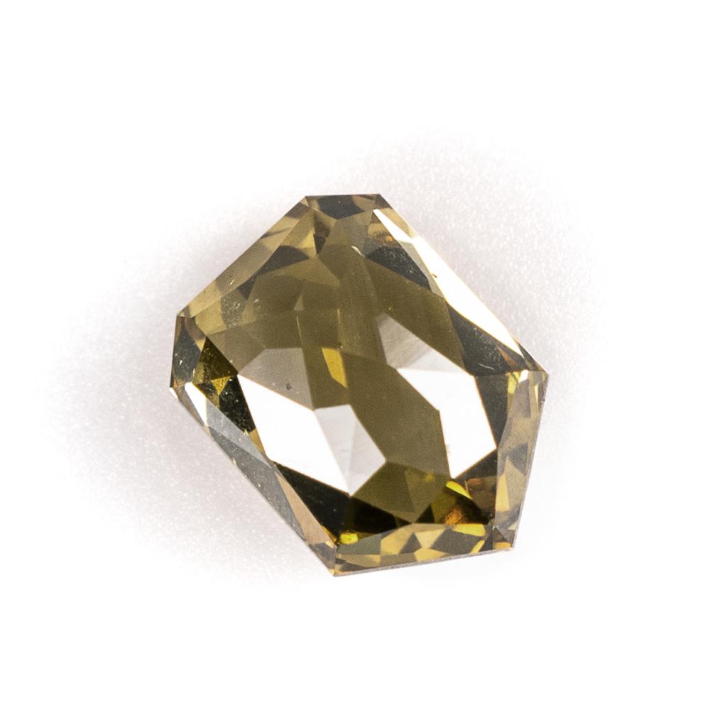 Rose Cut Champagne Bullet Diamond